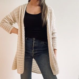 🍁3 for $39🍁 Open Weave Ivory Cardigan Sweater